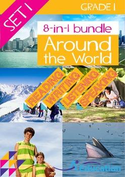 8-IN-1 BUNDLE- Around the World (Set 1) – Grade 1