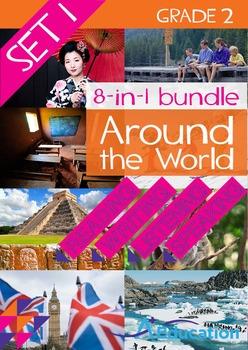 8-IN-1 BUNDLE- Around the World (Set 1) – Grade 2
