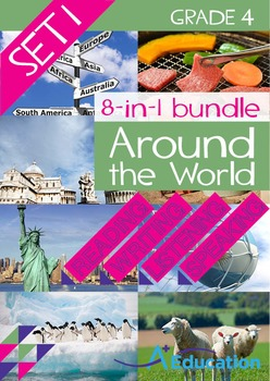 8-IN-1 BUNDLE- Around the World (Set 1) – Grade 4