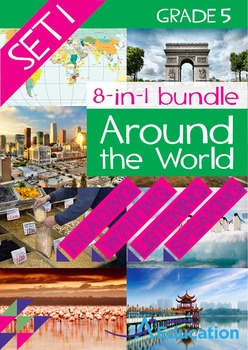 8-IN-1 BUNDLE- Around the World (Set 1) – Grade 5
