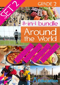 8-IN-1 BUNDLE- Around the World (Set 2) – Grade 2