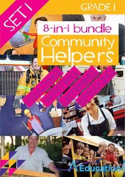 8-IN-1 BUNDLE- Community Helpers (Set 1) – Grade 1