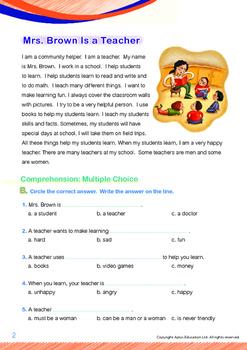 8-IN-1 BUNDLE - Community Helpers (Set 1) Grade 1 ('Triple-Track Writing Lines')
