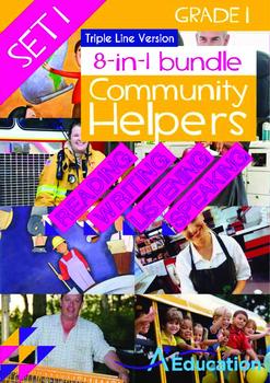 8-IN-1 BUNDLE - Community Helpers (Set 1) Grade 1 ('Triple