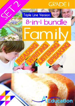 8-IN-1 BUNDLE - Family (Set 1) Grade 1 ('Triple-Track Writing Lines')