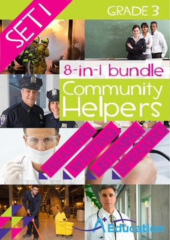 8-IN-1 BUNDLE- Community Helpers (Set 1) – Grade 3