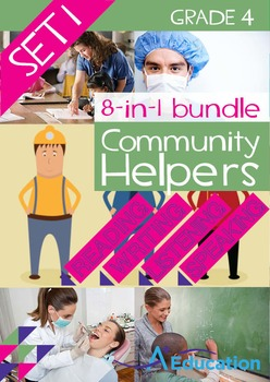 8-IN-1 BUNDLE- Community Helpers (Set 1) – Grade 4