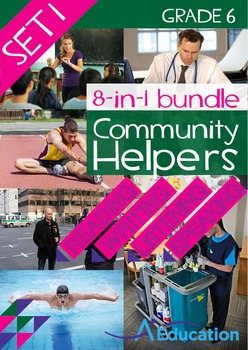 8-IN-1 BUNDLE- Community Helpers (Set 1) - Grade 6