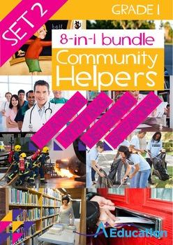 8-IN-1 BUNDLE- Community Helpers (Set 2) – Grade 1