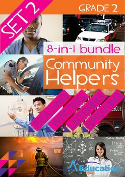 8-IN-1 BUNDLE- Community Helpers (Set 2) – Grade 2