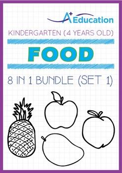 8-IN-1 BUNDLE - Food (Set 1) - Kindergarten, K2 (4 years old)