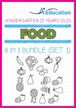 8-IN-1 BUNDLE - Food (Set 1) - Kindergarten, K3 (5 years old)