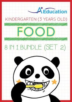 8-IN-1 BUNDLE - Food (Set 2) - Kindergarten, K1 (3 years old)