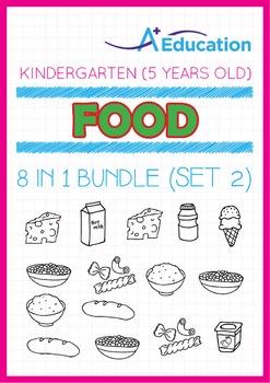 8-IN-1 BUNDLE - Food (Set 2) - Kindergarten, K3 (5 years old)