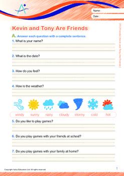8-IN-1 BUNDLE - Friends (Set 1) Grade 1 ('Triple-Track Writing Lines')