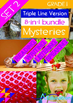 8-IN-1 BUNDLE- Mysteries (Set 2) - Grade 1 (with 'Triple-Track Lines')