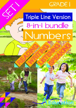 8-IN-1 BUNDLE- Numbers (Set 1) - Grade 1 (with 'Triple-Track Lines')