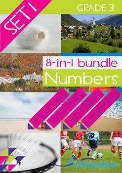 8-IN-1 BUNDLE- Numbers (Set 1) – Grade 3