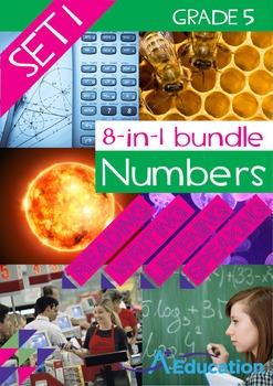 8-IN-1 BUNDLE- Numbers (Set 1) – Grade 5