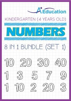 8-IN-1 BUNDLE - Numbers (Set 1) - Kindergarten, K2 (4 years old)