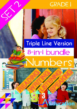 8-IN-1 BUNDLE- Numbers (Set 2) - Grade 1 (with 'Triple-Track Lines')
