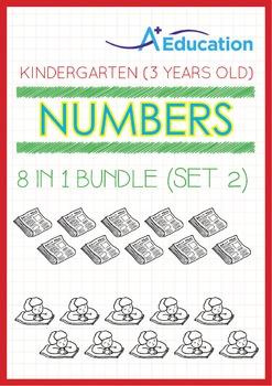 8-IN-1 BUNDLE - Numbers (Set 2) - Kindergarten, K1 (3 years old)