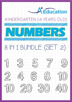 8-IN-1 BUNDLE - Numbers (Set 2) - Kindergarten, K2 (4 years old)