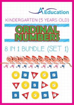 8-IN-1 BUNDLE - Ordinal Numbers (Set 1) - Kindergarten, K3 (5 years old)