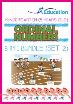 8-IN-1 BUNDLE - Ordinal Numbers (Set 2) - Kindergarten, K3 (5 years old)