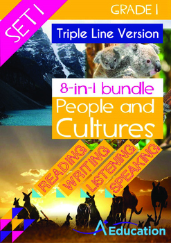 8-IN-1 BUNDLE- People and Cultures (Set 1) - Grade 1 (with 'Triple-Track Lines')