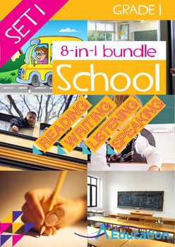 8-IN-1 BUNDLE- School (Set 1) - Grade 1