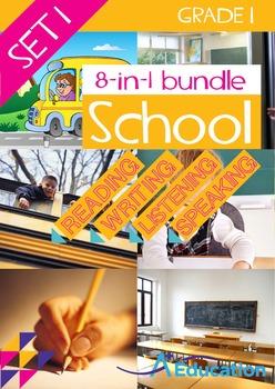8-IN-1 BUNDLE- School (Set 1) - Grade 1