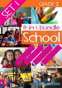 8-IN-1 BUNDLE- School (Set 1) – Grade 2