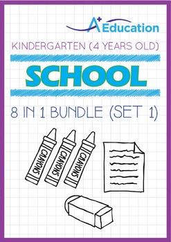 8-IN-1 BUNDLE - School (Set 1) - Kindergarten, K2 (4 years old)