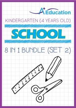 8-IN-1 BUNDLE - School (Set 2) - Kindergarten, K2 (4 years old)