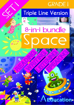 8-IN-1 BUNDLE- Space (Set 1) - Grade 1 (with 'Triple-Track Writing Lines')