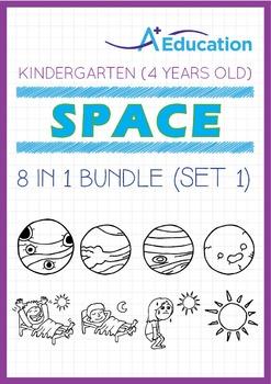 8-IN-1 BUNDLE - Space (Set 1) - Kindergarten, K2 (4 years old)