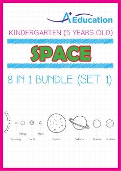 8-IN-1 BUNDLE - Space (Set 1) - Kindergarten, K3 (5 years old)