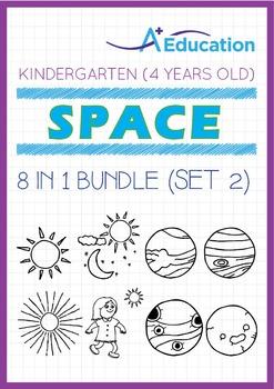 8-IN-1 BUNDLE - Space (Set 2) - Kindergarten, K2 (4 years old)