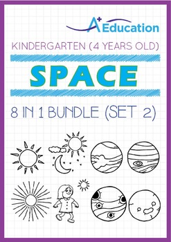 8-IN-1 BUNDLE - Space (Set 2) - Kindergarten, K2 (4 years old)