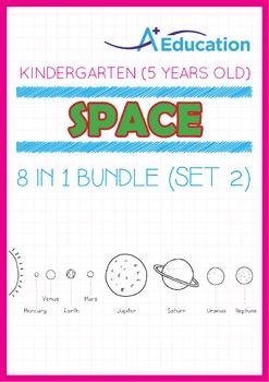 8-IN-1 BUNDLE - Space (Set 2) - Kindergarten, K3 (5 years old)