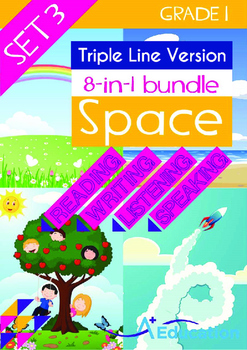 8-IN-1 BUNDLE- Space (Set 3) - Grade 1 (with 'Triple-Track Writing Lines')