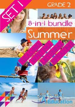 8-IN-1 BUNDLE- Summer (Set 1) – Grade 2