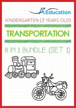 8-IN-1 BUNDLE - Transportation (Set 1) - Kindergarten, K1