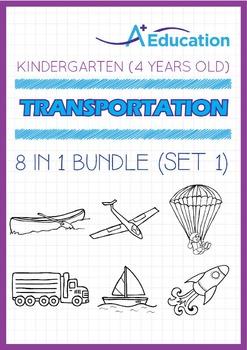 8-IN-1 BUNDLE - Transportation (Set 1) - Kindergarten, K2
