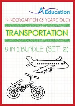 8-IN-1 BUNDLE - Transportation (Set 2) - Kindergarten, K1 (3 years old)