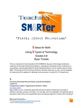 8 Ideas for Math using 8 Types of Technology -- Gr. 4-8