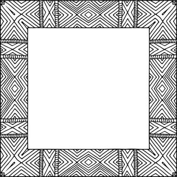 Zen Square Frames, Border ClipArt, Hand Drawn Doodle, Digital Frame Clip Art