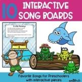 10 Interactive Song Boards for Preschool Language