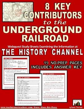 Underground Railroad: 8 Key Contributors: Webquest